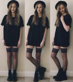 I would wear this without the black lipstick and stockings