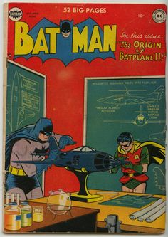 Batman Comic #61 The Origin Of Batplane II!   Date: October/November 1950