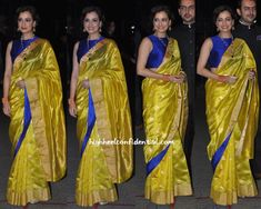 Dia Mirza at Filmfare Awards 2015. such a pretty saree and colour too.. couldnt take my eyes ♥