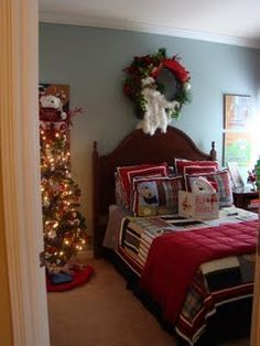 Christmas Bedrooms bedroom decor ideas and designs: christmas holiday bedding ideas