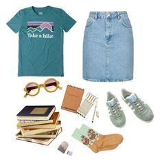 """""""take-a-hike"""" by mikaela-obrien on Polyvore featuring Life is good, Topshop, adidas, HOT SOX and Public Library"""