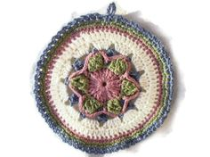 Flower Pot Holder Hot Pad by ACCrochet on Etsy, $10.00