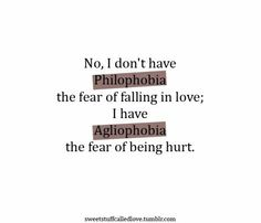 fear of getting hurt in a relationship phobia