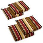Blazing Needles Outdoor All Weather UV Resistant 4-Piece Patio Chair Cushion Set