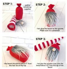gnomes diy how to make pattern - gnomes . gnomes diy how to make . gnomes diy how to make from socks . gnomes diy how to make pattern . Christmas Projects, Holiday Crafts, Christmas Diy, Christmas Decorations, Christmas Ornaments, Valentines Day Decorations, Simple Christmas Crafts, Christmas Knomes, Gnome Tutorial