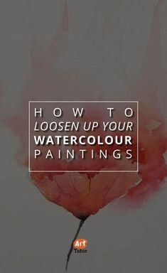 """Check out this great video tutorial on how to Loosen Up Your Watercolor Paintings! It's all about the """"extend and blend' - basically, yoga for watercolors. #watercolor #painting #techniques #teachingart #tutorial #videotutorial"""