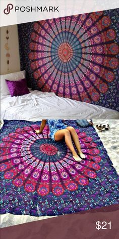 Wall Tapestry/  Bed Tapestry. used This beautiful tapestry is great for empty walls or bed sheets. Tapestry has small rip on corner (will post pics later) all offers are considered! NOT URBAN / WILL SHIP NEXT DAY Urban Outfitters Other