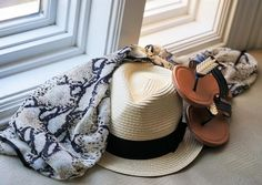 Flip-flops ✔️ cover-up ✔️ fedora ✔️ out the door✔  #summernecessities #spring2016collection #shoplvkiki #accessories