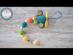 Baby Knitting, Crochet Baby, Free Crochet, Baby Lovies, Amigurumi Tutorial, Dummy Clips, Crochet Videos, Baby Toys, Tatting
