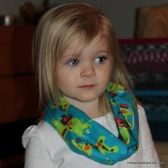 Infant Toddler Infinity Scarf DJ Frog on Blue by mishacoledesigns, $6.50