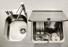 KitchenAid in-sink dishwasher   Convenient day to day use for someone in a wheelchair, and for someone living alone when many dirty dishes aren't accumulated