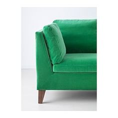 IKEA - STOCKHOLM, Sofa, Sandbacka green, , The cover is easy to keep clean as it is removable.Velvet is a soft, luxurious fabric that is resistant to abrasion and easy to clean using the soft brush attachment on your vacuum.The seat and back cushions provide comfortable support for your body and easily regain their shape because they're filled with high resilience foam and polyester fibers.You can turn the back cushions so they wear evenly and last longer, as they're reversible and have the…