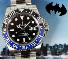 """Watching Over Us!"" #Rolex 40mm GMT-Master II Steel 'Batman' Ref#: 116710  ($8,775.00 USD) http://www.elementintime.com/Rolex-GMT-Master-II-Midnight-116710-Stainless-Steel-NIB"