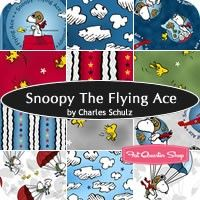 Snoopy the Flying Ace Fat Quarter Bundle<br />Charles Schulz for Quilting Treasures Fabrics