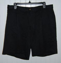 Tommy Bahama Men's 34 Black Silk Casual Shorts  #TommyBahama #CasualShorts