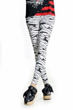 visual kei punk leggings gothic mummy