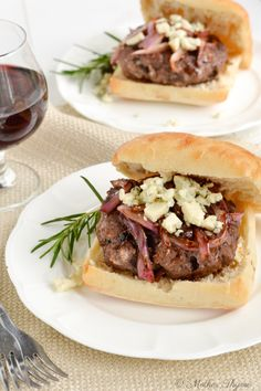 Red Wine Burgers | Mother Thyme