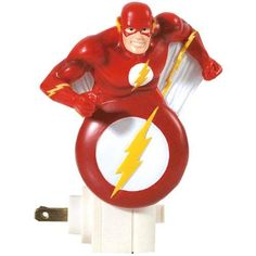 Westland Giftware DC Comics Resin Nightlight, 5-Inch, The Flash  Westland Giftware's The #Flash #Nightlight is made of durable resin and is 5.5 high. The light bulb is included and the nightlight has an on/off switch. The plug rotates for versatility of use. #Westland #Giftware is a leading manufacturer of quality collectible gift and home decor items.
