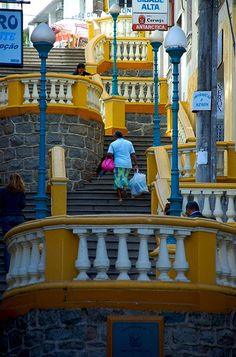 Downtown Vitória (Victória) is the capital of the state of Espírito Santo, Brasil