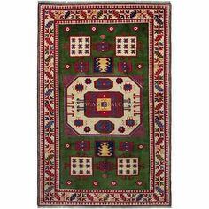 Azərbaycan. Qazax kolleksiyamıza aid yaşıl yerlikli xalça. Green-fielded rug from Gazakh collection.  #handmade #handknotted #authentic #oriental #azerbaijani #caucasian #karabakh #gazakh #kazakh #qaraçöp #karachop #karachov #borchaly #garabagh #kuba #guba #pileweave #wool #rug #carpet #yarn #naturaldye #interiordesign #green #roomsize