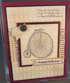 Vintage Birthday  by Wendy Klein | bicycle | birthday or any occasion- based on colors could be masculine