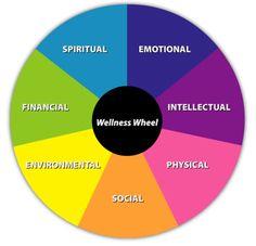 The seven dimensions of wellness all come together to create the Wellness Wheel. Wellness Wheel, Health And Wellness, Mental Health, Drake Equation, Favorite Questions, Self Concept, Negative Attitude, Used Cameras, Spiritual Wellness