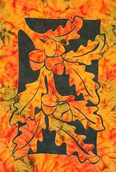 Oak Leaves & Acorns quilt pattern