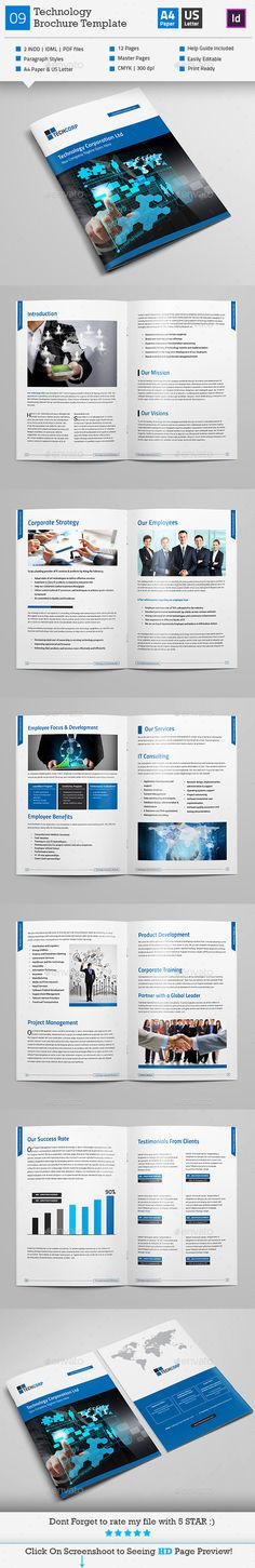 Haweya Annual Report 16 Page V2 Page template, Corporate - technology brochure template