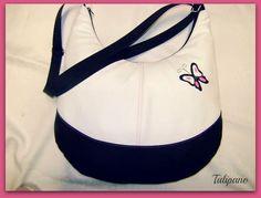 Pillangóm táska fekete-fehér-pink