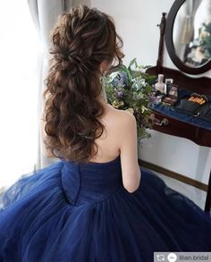 60 Long Wedding Hairstyles and Updos from mpobedinskaya « The Best Fashion Wedding Hairstyles For Long Hair, Bride Hairstyles, Teenage Hairstyles, Quinceanera Hairstyles, Hair Arrange, Bridal Updo, Hair Dos, Hair Inspiration, Curly Hair Styles