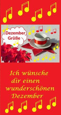 Ich wünsche dir einen wunderschönen Dezember 🎄🎶⭐⛄🎅 #Dezembergrüße #Dezember #Videogrüße Advent, Food, December, New Years Eve, Christmas, Nice Asses, Essen, Meals, Yemek