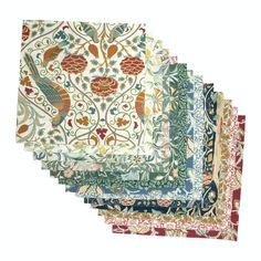 "Free Spirit Fabrics Orkney by Morris & Co. Orkney 42 pc. 10"" Charm Pack Hancocks Of Paducah, Pink Sand Beach, Free Spirit Fabrics, Drapery Hardware, Coordinating Fabrics, Fabric Squares, Charm Pack, William Morris, Quilting Designs"