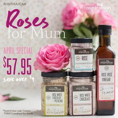 Roses for Mum - this April  Visit www.kylieelms.yourinspirationathome.com.au and send a gift to your Mum abroad... Let Mum now how much you really care with a lovely Rose Inspired YIAH Gift Pack
