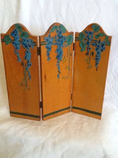 Vintage Tynietoy Dollhouse Miniature 3 Section Floral Room Screen! 1920s | eBay
