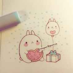 I made molang fanart (ღ˘⌣˘ღ) i want a molang plushie but it's so hard to find…