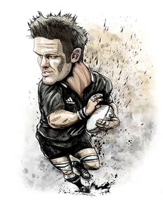 Rugby World Cup 2015 All Black Caricatures
