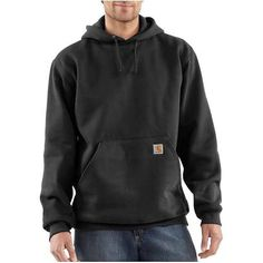 68cfc2432588 Carhartt Men s Midweight Hooded Sweatshirt - XL Regular - Black Carhartt  Sweatshirts
