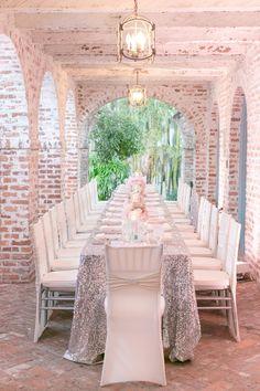 Glitter Wedding, Mod Wedding, Wedding Table, Wedding Reception, Dream Wedding, Silver Glitter, Gatsby Wedding, Bling Wedding, Wedding Bells