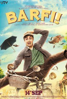 Barfi! (2012) a hearing and speech impaired boy falls in love with Shruti. In spite of her deep affection for Barfii, Shruti gives into parental pressure to marry a 'normal' man and lead a 'normal' life. Many years later their paths cross once again when Barfi, now in love with Jhilmil, is on the run from the police. Barfi is desperately seeking Jhilmil, who has gone missing. Shruti's realization that Jhilmil is autistic makes her recognize that true love is really blind. [seen! loved it!]…