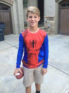 #homecoming lol jk it was a superhero theme at his school