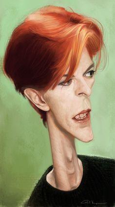 [ David Bowie ] - artist: Paul Moyse - website: http://artofmoyse.blogspot.com