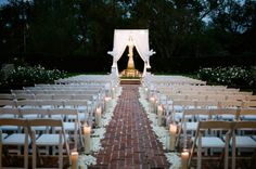 Evening wedding at City Park Botanical Gardens of New Orleans.