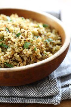 """Roasted Cauliflower """"Rice"""" with Garlic and Lemon Recipe on Yummly. @yummly #recipe"""