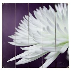 Plank-style wood wall art with a bold floral design. Ready-to-hang with included sawtooth hanger.  Product: Wall art...