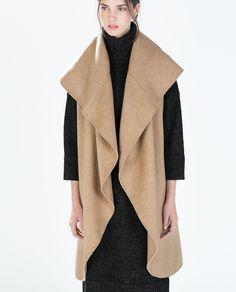 Camel long vest, 'HAND MADE' LONG WAISTCOAT from Zara
