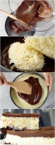 Brownie Prestígio, pra ninguém colocar defeito #brownie #browniefacil #brownierapido #browniebarato #browniedeprestigio