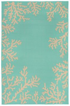 Liora Manne Toulouse Coral Border Rugs | Rugs Direct