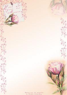 papier à lettres fleuri