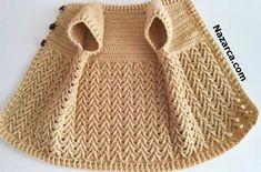BİLİN BAKALIM TIĞ MI? ŞİŞ Mİ?: EL İŞİ BEBEK YELEK | Nazarca.com Cable Knitting, Hand Knitting, Crochet Crafts, Crochet Projects, Knitted Baby Clothes, Crochet Videos, Knitting For Beginners, Baby Knitting Patterns, Baby Dress