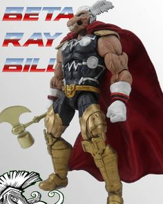 "Marko's CustomCraft on Instagram: ""Beta Ray Bill para @charly_de_anda . #betaraybill #thor #stormbreaker #customfigure #caballo #thunder #marvellegends"""